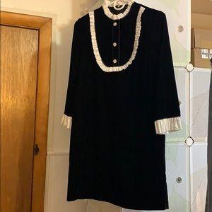 Zara Black Velvet Dress